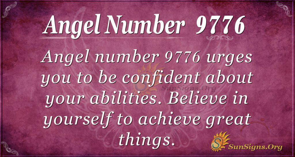 Angel number 9776