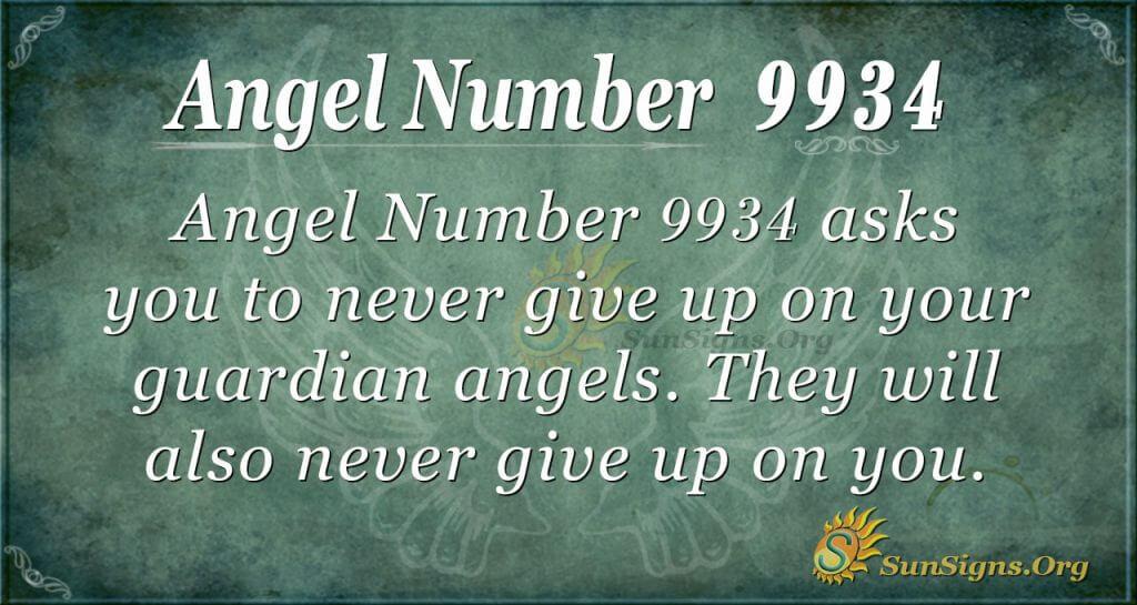 Angel number 9934