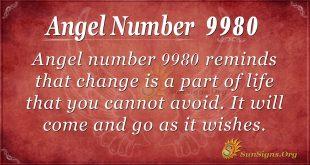 Angel number 9980