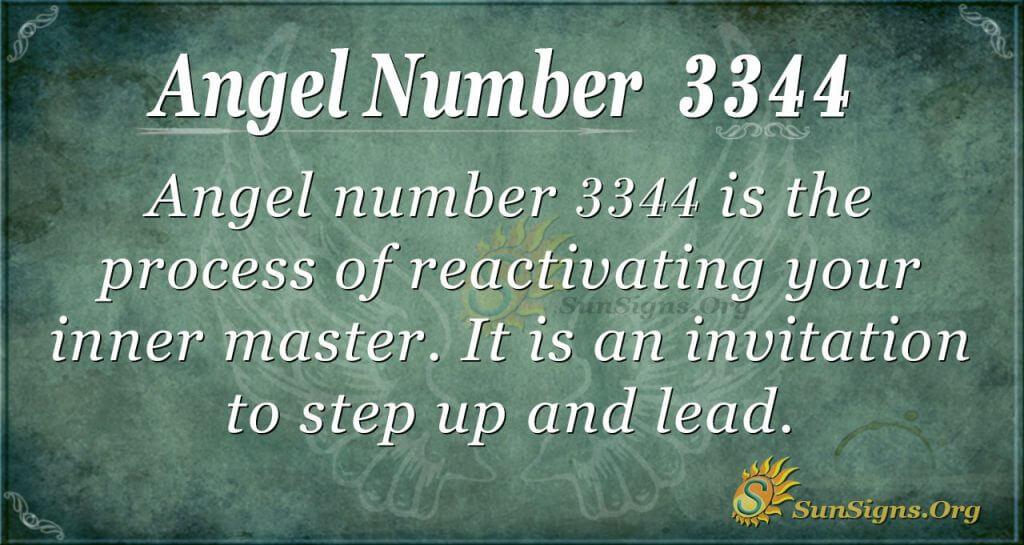 Angel Number 3344
