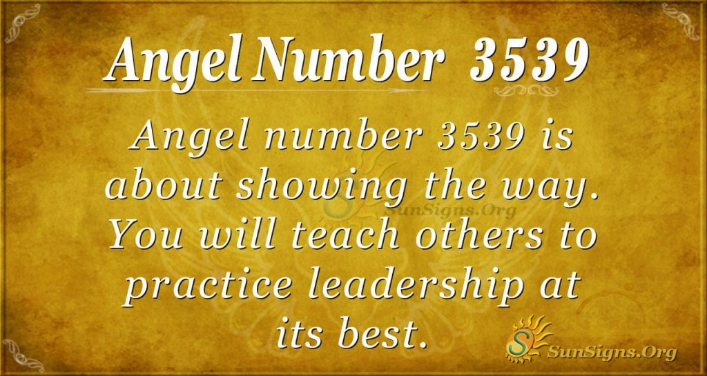 angel number 3539