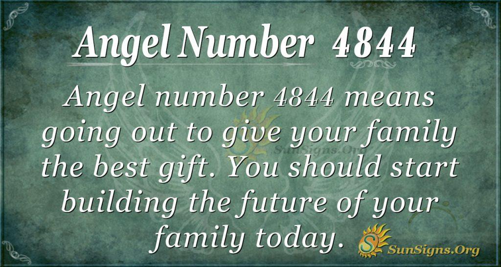 Angel number 4844