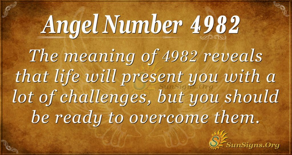 angel number 4982