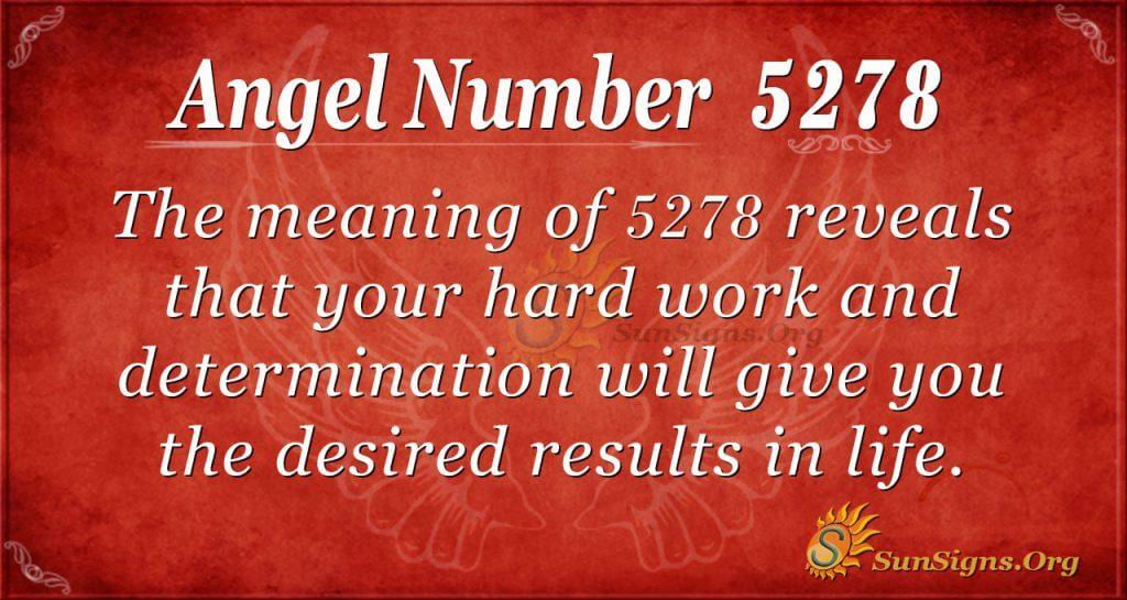 angel number 5278