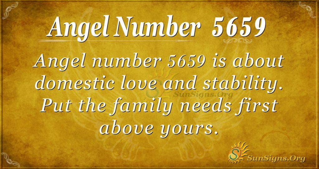 Angel number 5659