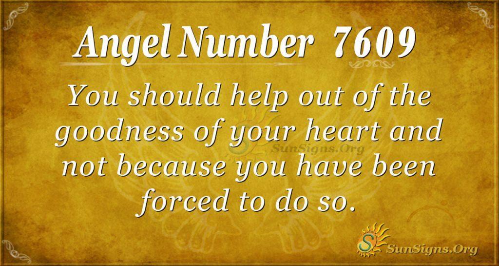 angel number 7609