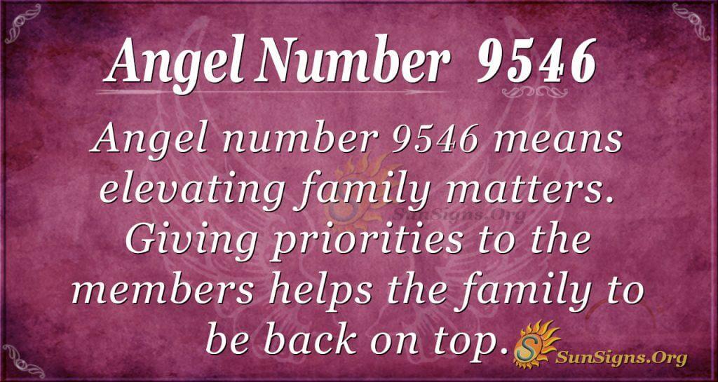 Angel Number 9546