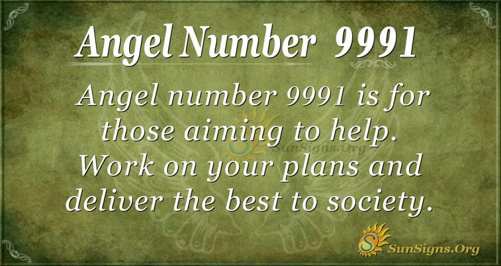 Angel Number 9991