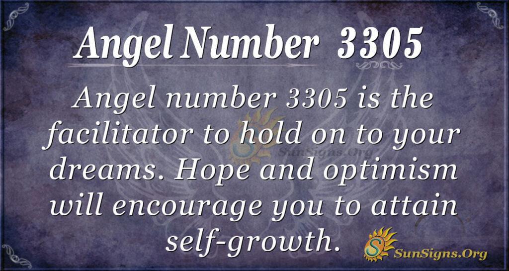 Angel number 3305