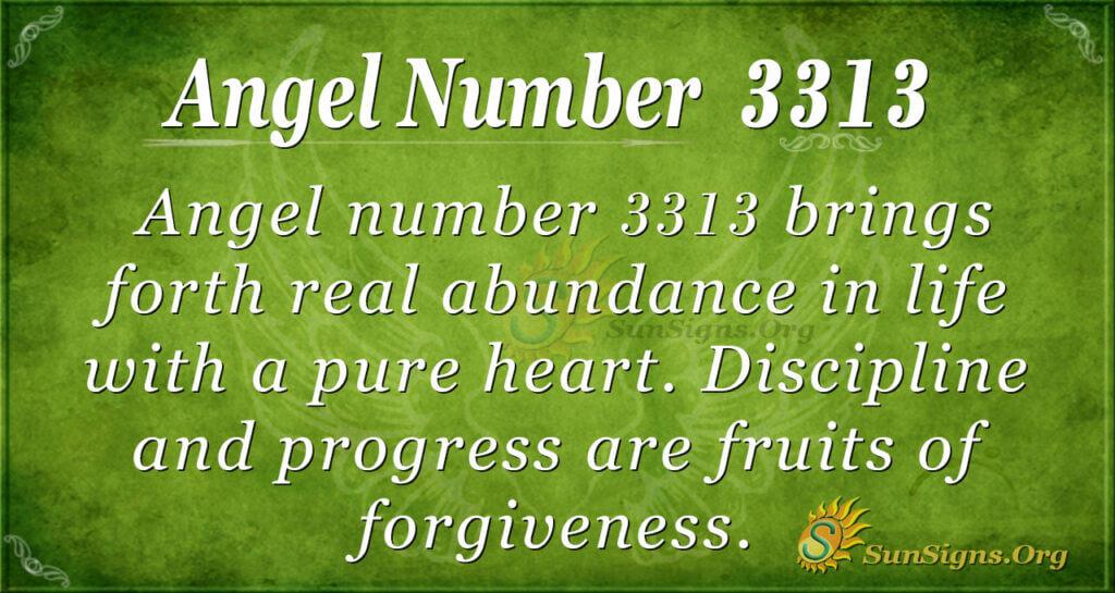 Angel number 3313