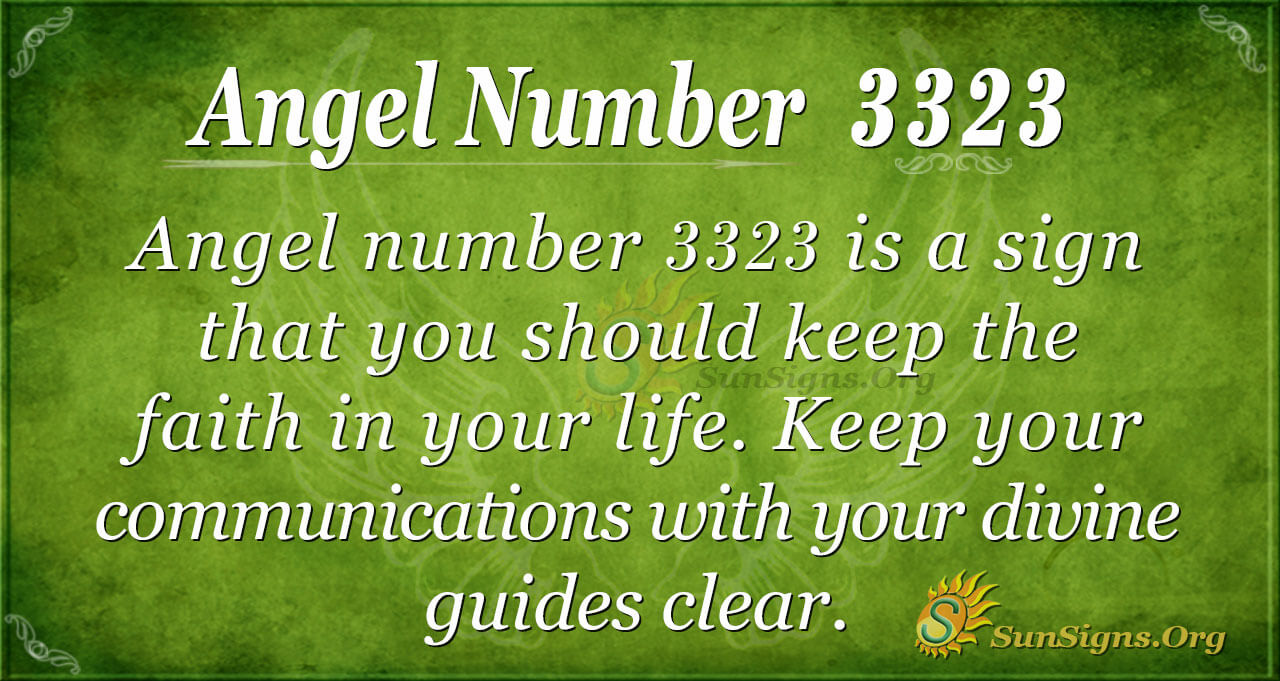Angel Number 3323 Meaning