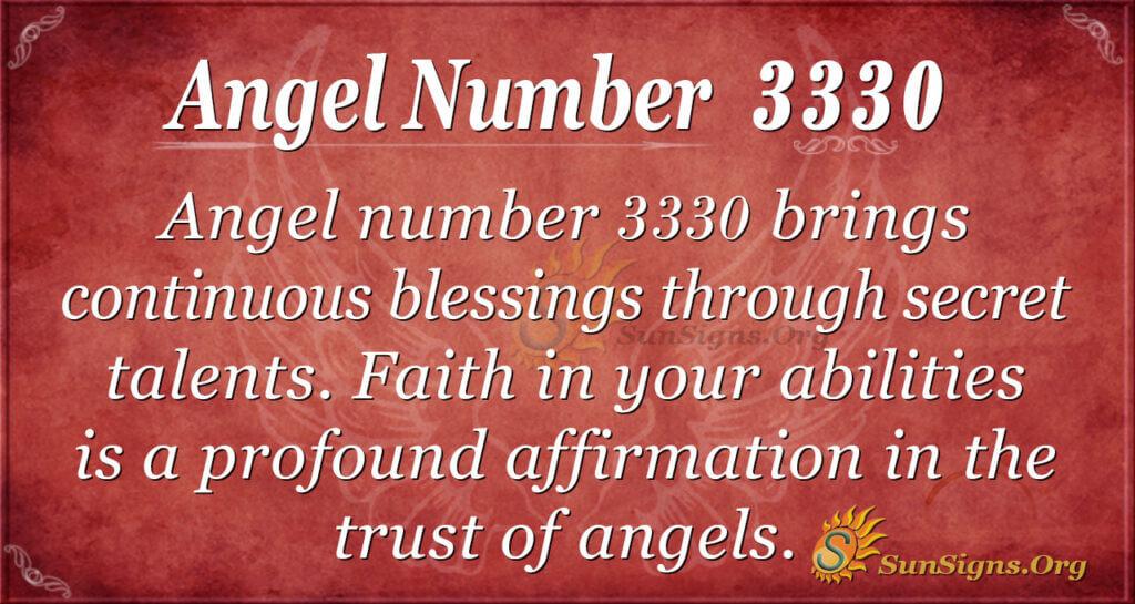 Angel number 3330