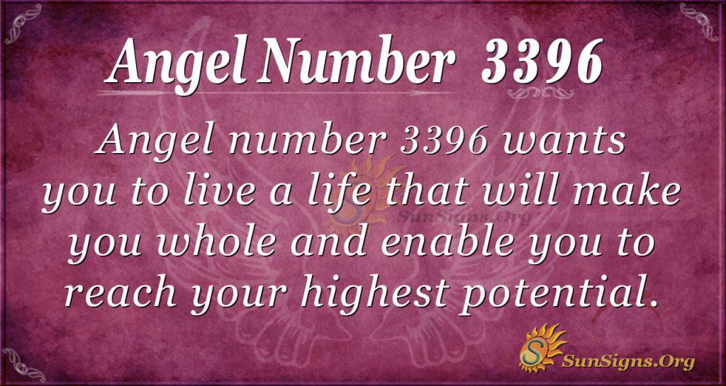 Angel number 3396