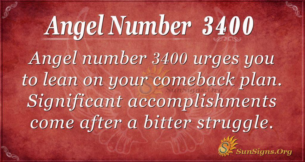 Angel number 3400