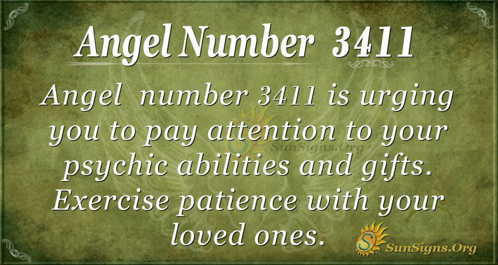 Angel number 3411