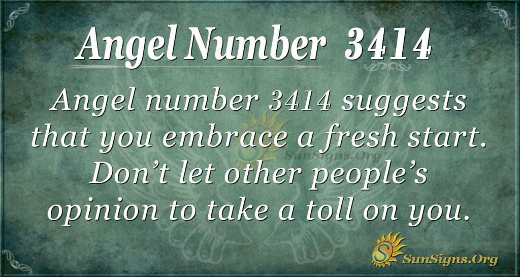 Angel number 3414