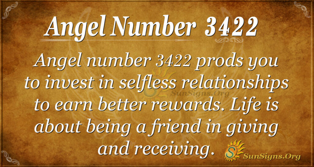 Angel number 3422