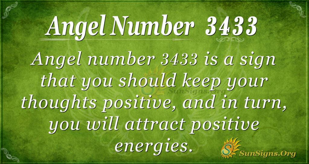 Angel number 3433