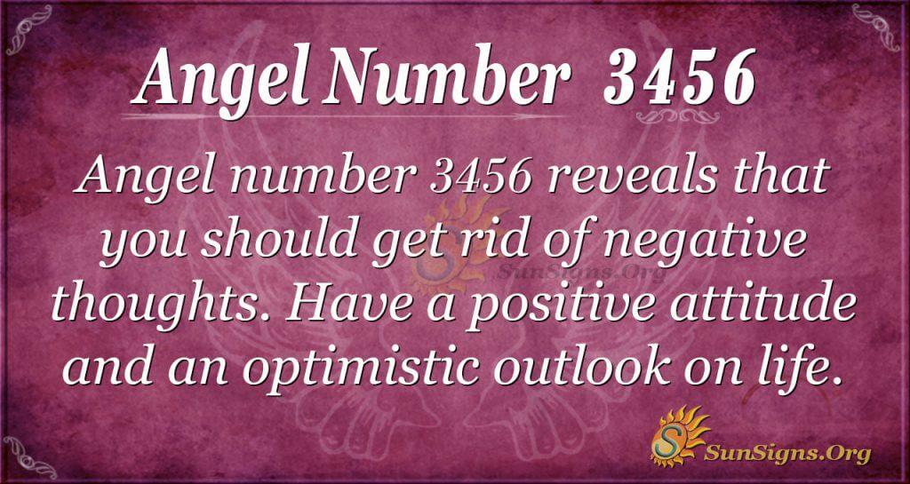 Angel number 3456