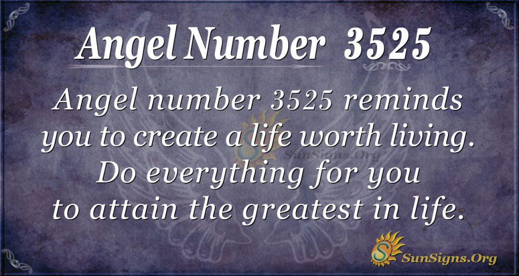 Angel number 3525