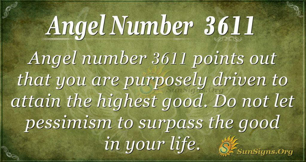 Angel number 3611