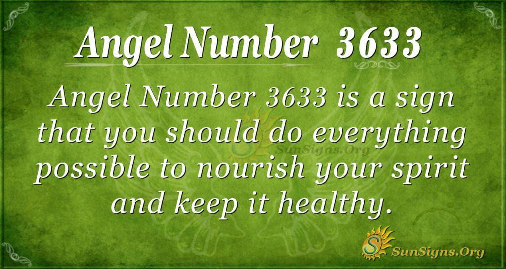 Angel number 3633