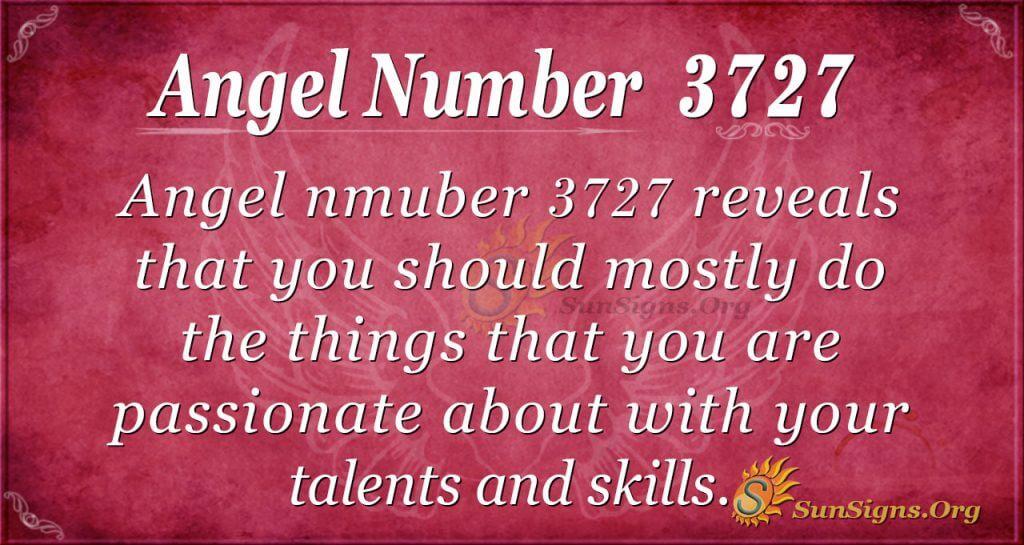 Angel number 3727
