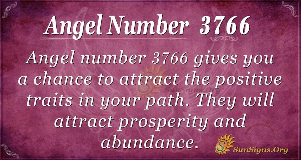 Angel number 3766