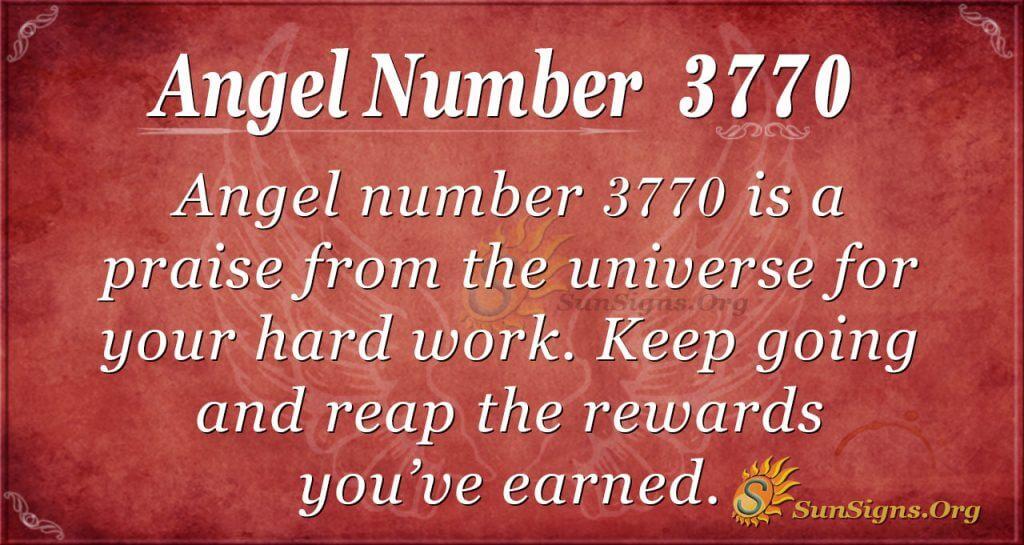 angel number 3770