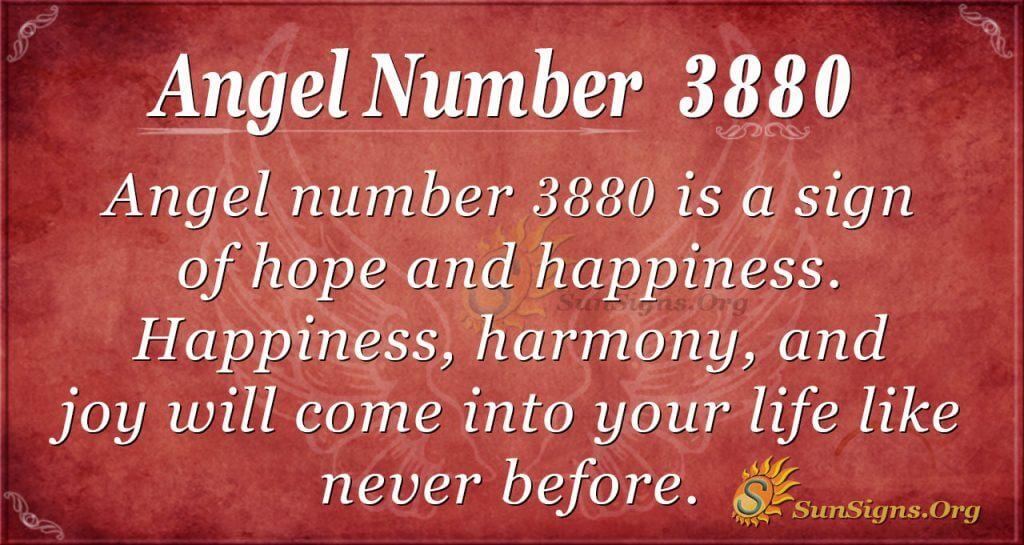 angel number 3880