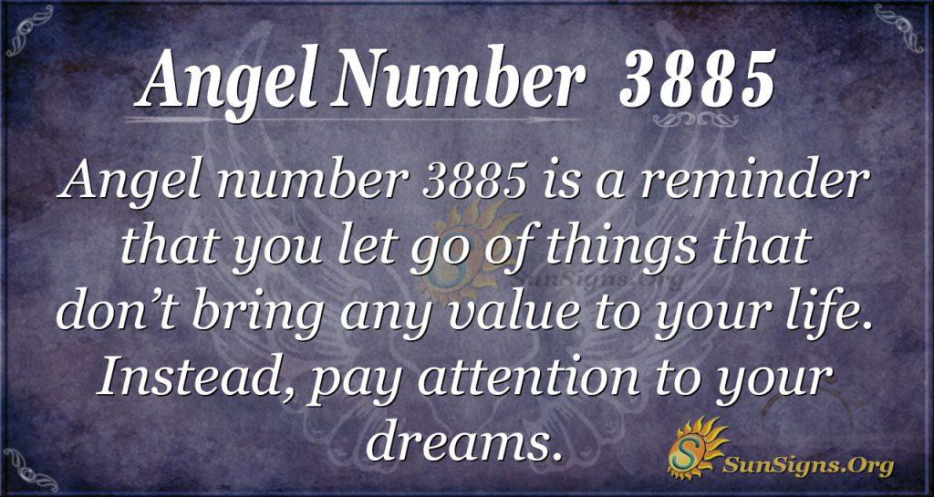 angel number 3885