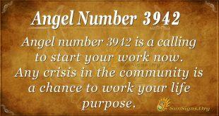 Angel number 3942