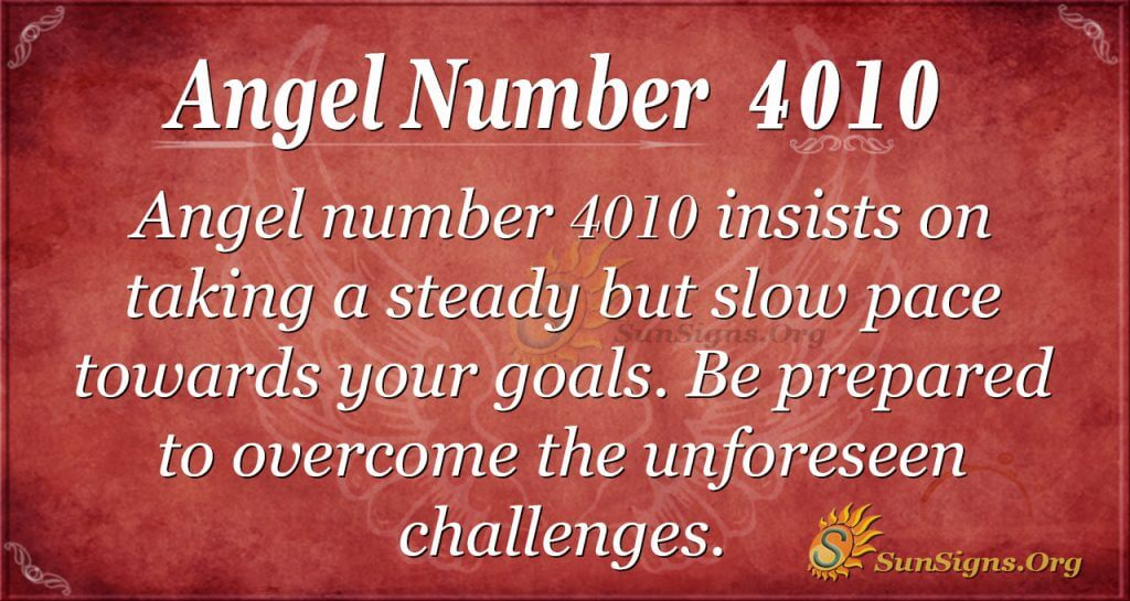 angel number 4010