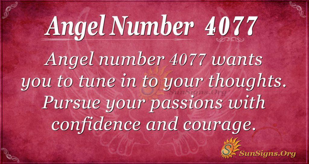 Angel number 4077