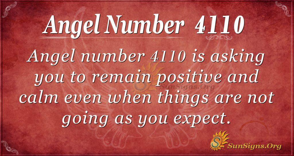 Angel number 4110