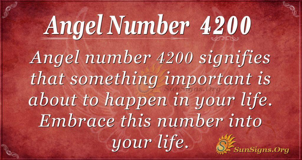Angel number 4200