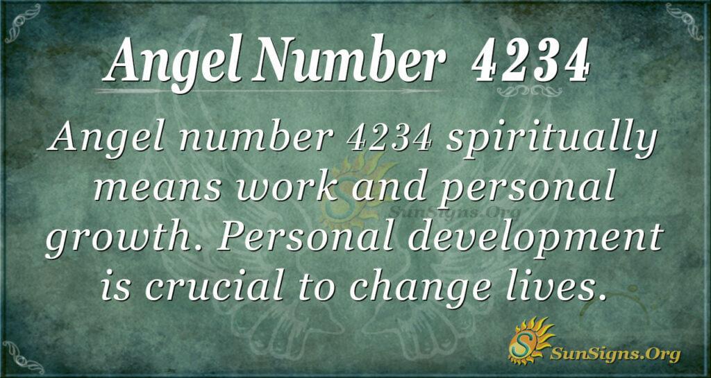 Angel number 4234