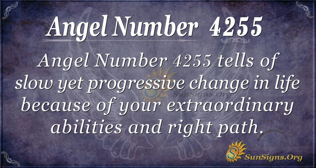 Angel number 4255