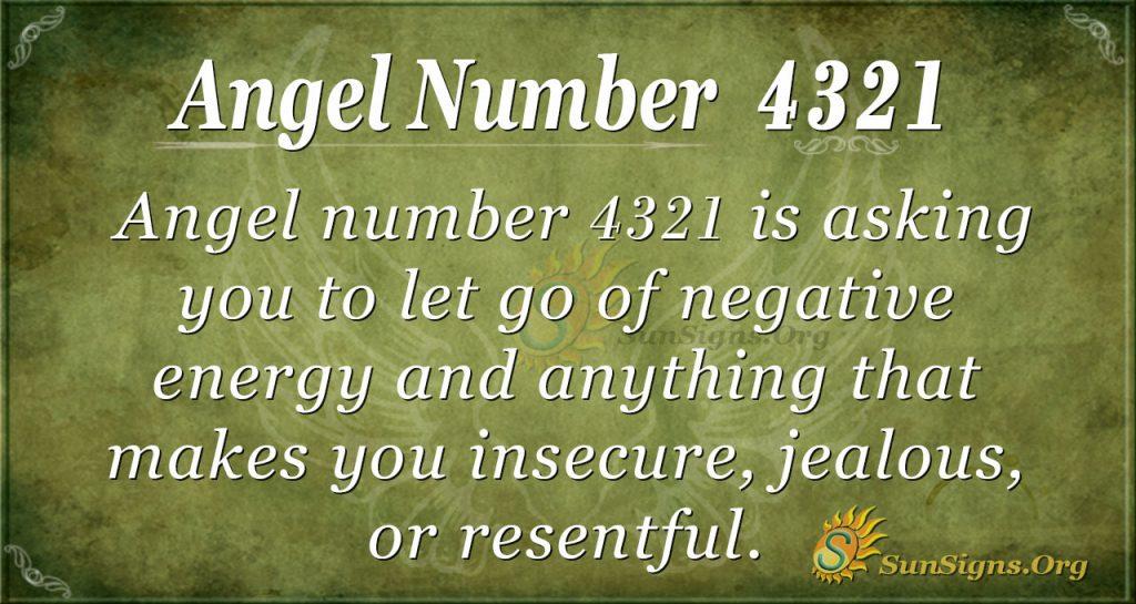 Angel number 4321