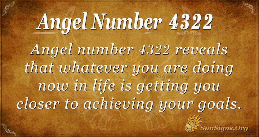 angel number 4322