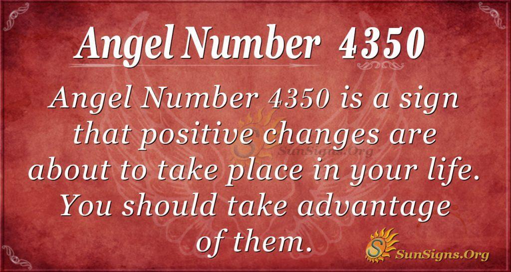 Angel number 4350
