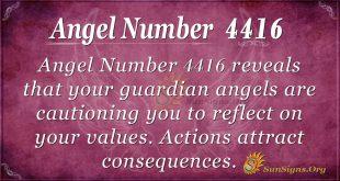 Angel number 4416