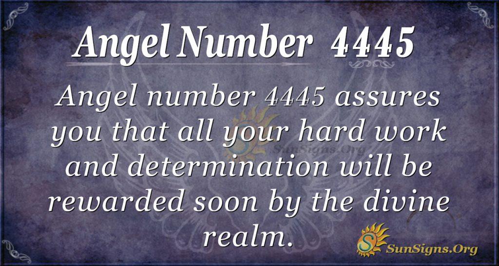 Angel number 4445