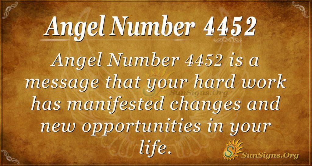 Angel number 4452