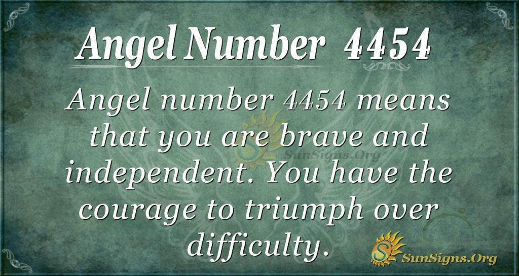 Angel number 4454