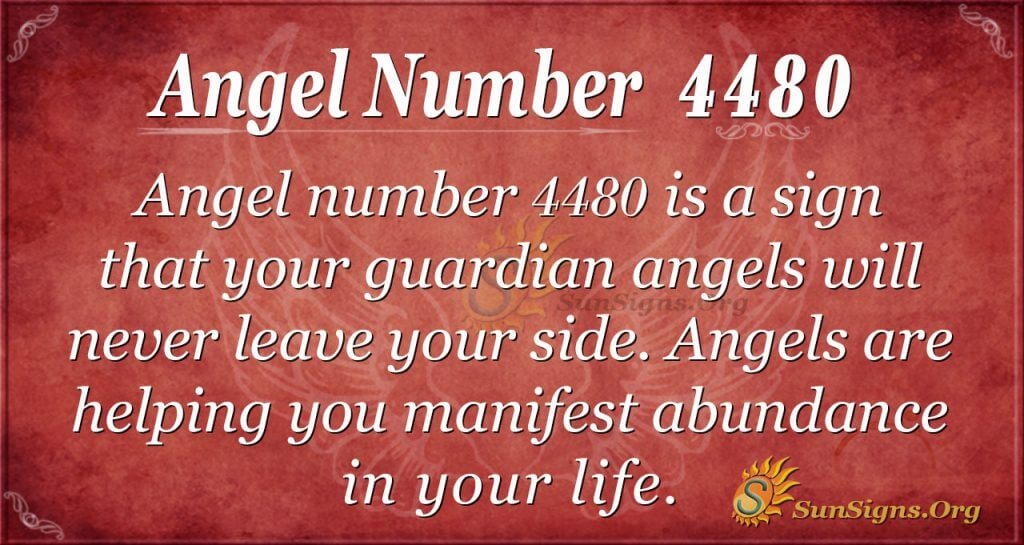 angel number 4480