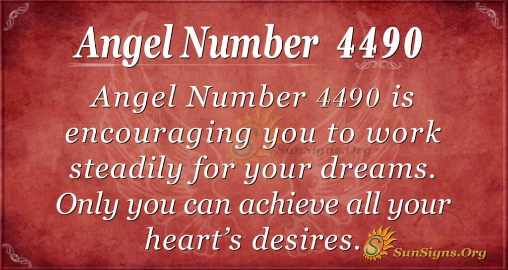 Angel number 4490