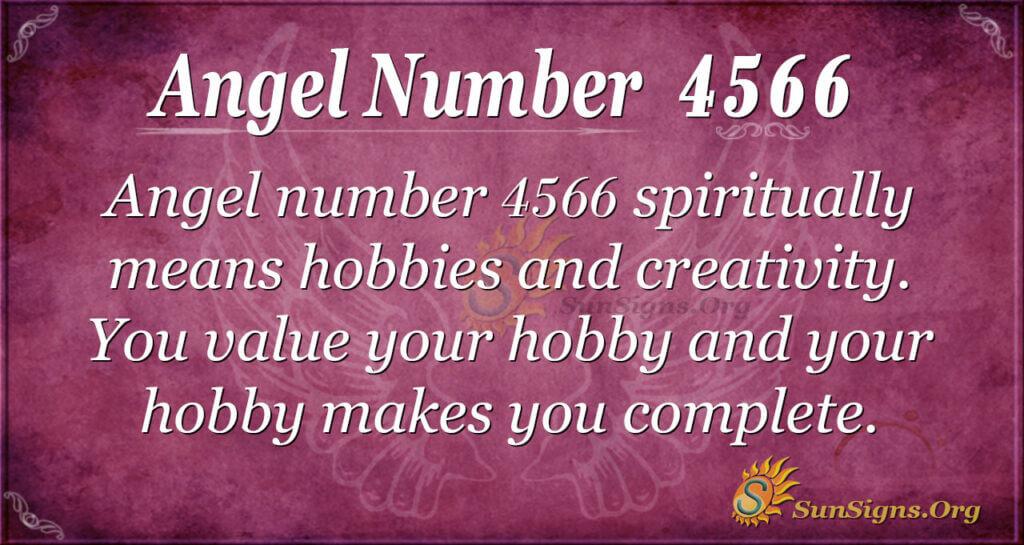 Angel number 4566