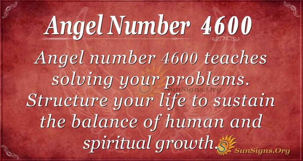 Angel number 4600