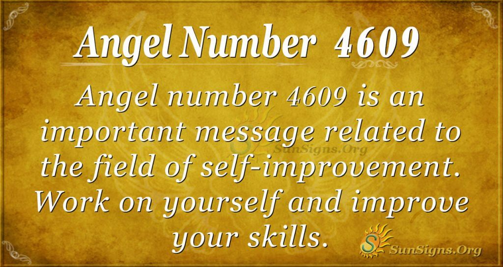 angel number 4609